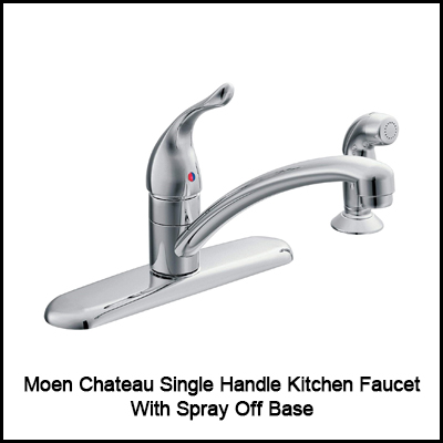 Moen Chateau Single Handle Kitchen Faucet with Spray Off Base