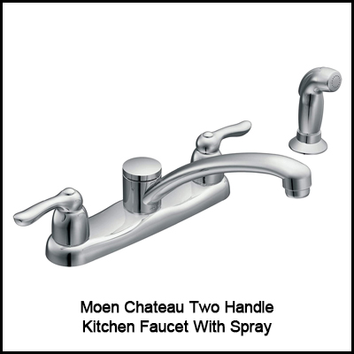 Moen Chateau Two Handle Kitchen Faucet With Spray